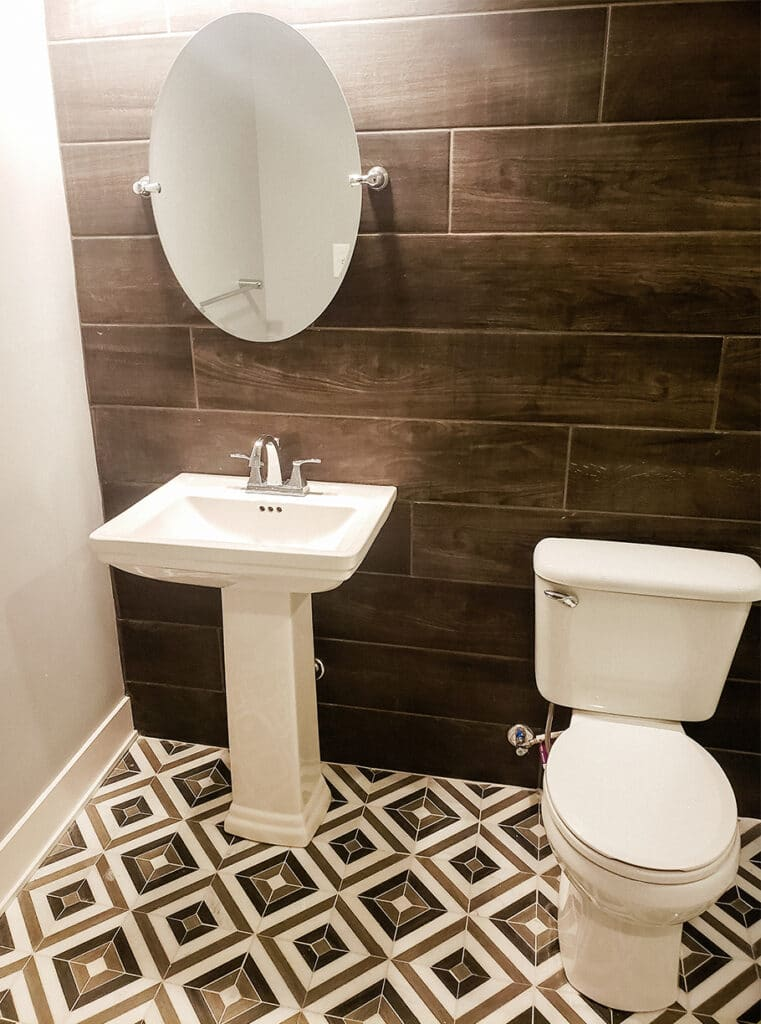 Indianapolis Remodeling Contractors - Bathroom remodel - modern bathroom with wood tile