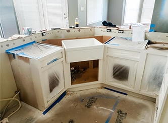 Indianapolis Home remodel Organize - kitchen cabinets painted and installed