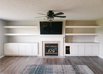 indianapolis home remodeling contractors - Custom Built In Cabinets for the family room