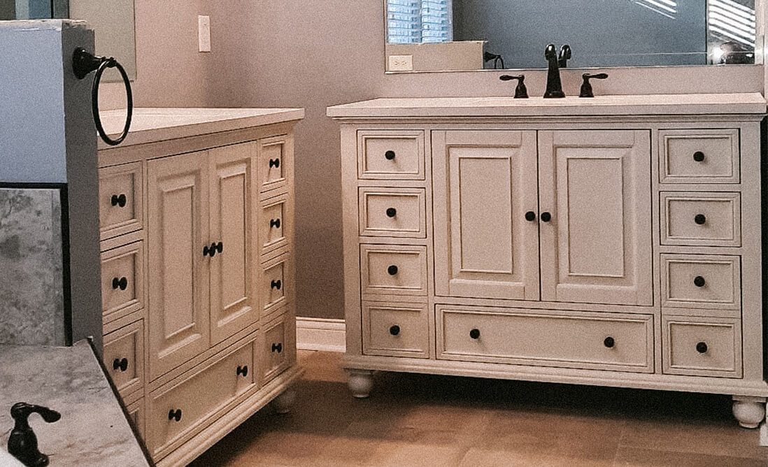 Indianapolis Bathroom Remodeling - Master bathroom remodel with double sinks